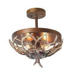 lnc 2 light antler ceiling semi flush lights pendant lighting use e12 bulb