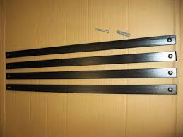 4 x 500mm diy security window bars grill 25 5mm flat black