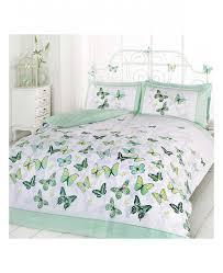 erfly flutter green single duvet cover bedding set