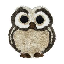 3x3 rizzy rugs brown animal print eyes owl area rug co9930 aprx 3 6