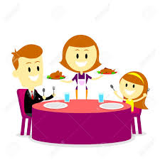 family dinner table clipart. mom serving meals for family dinner stock vector - 32527041 table clipart t