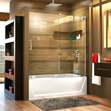 astounding glass shower door won t stay closed the sliding bathtub enclosure gives a clean uniform look but does not sacrifice the tile art on the bathroom