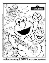 Free Printable Sesame Street Coloring Page Printable Coloring