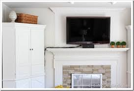 How To Hide the Cords on a Flat Screen TV - In My Own Style