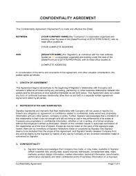 confidentiality agreement template confidentiality agreement template sample form business in a box