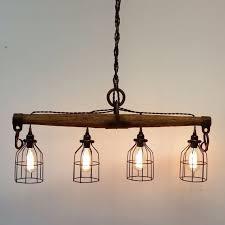 modern rustic lighting. Awesome Inspiration Ideas Modern Rustic Light Fixtures Industrial Yoke Chandelier By UrbanAnalog On Etsy Dining Lighting B
