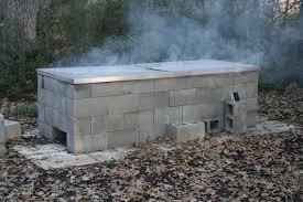 Bar Bq Pit Designs Anatomy Of A Cinder Block Pit Texas Barbecue