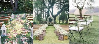 rustic outdoor wedding ceremony decorations ideas at garden rustic wedding decoration