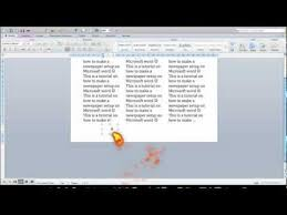 Newspaper Layout On Word How To Change A Microsoft Word Document Into A Newspaper