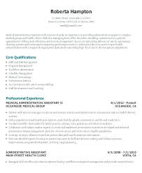 Medical Executive Office Administrative Assistant Resume Curriculum Gorgeous Resume Administrative Assistant