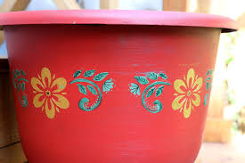 create with mom painting plant pots