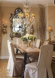 dining room french country dining room decorating ideas french country dining room ideas with rustic table and slipcovered chairs and crystal chandelier