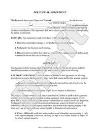 Sample Prenup Prenuptial Agreement Template Philippines Myexampleinc