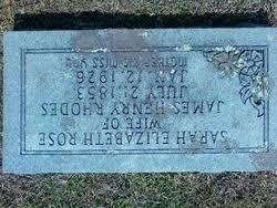 Sarah Elizabeth Rose Rhodes (1853-1926) - Find A Grave Memorial