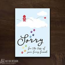 sympathy card pet shop sympathy cards for pets on wanelo