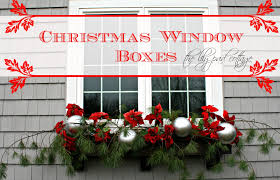 Christmas Window Box Decorations Christmas Window Boxes The Lilypad Cottage 16