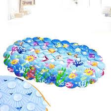 bathtub mats blue cartoon bath mats cartoon shell bathroom suction cup for baby and child mats