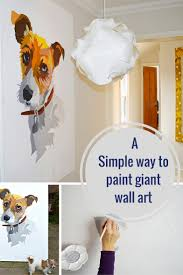 a great tutorial to show you how easy it is to paint your own giant wall