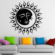 Small Picture Aliexpresscom Buy Moon Sun Creative Art Design Wall Decals