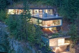 Steep Hillside Home Designs Modern Slope House Design Hillside House Architecture