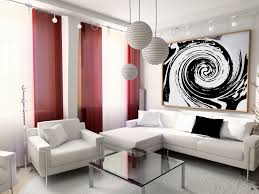 Modern Living Room Curtain Great Decorative Elements To Go With Red Living Room