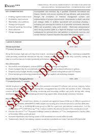 Executive Resume Examples Executive20cv203 Dreaded Templates