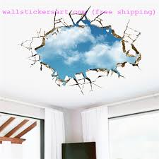 white clouds wall stickers removable