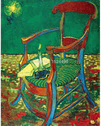 gauguin's chair of vincent van gogh hand made high q. reproduction oil  painting on canvas
