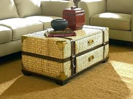 small trunk coffee table small trunk coffee table wicker chest coffee table wicker chest coffee table