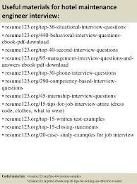 12 useful materials for hotel maintenance engineer sample hotel engineer resume