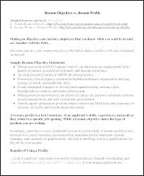 Profile For Resume Examples Of Professional Resumes Info Srhnf Info