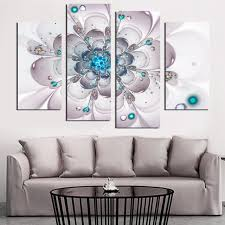 large blue flower wall art canvas painting home decoation picture on the wall canvas printed oil on large blue flower wall art with large blue flower wall art canvas painting home decoation picture on