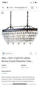 allen and roth chandelier harpwell