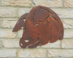 you may also like on metal pig wall art with rusty boar metal pig garden art pig decor pig gift pig