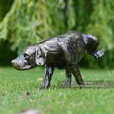 bronze effect dog garden