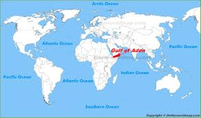 gulf of aden location on the world map