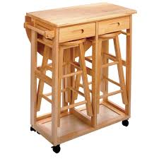 Space Saver Drop Leaf Table With 2 Round Stools Walmartcom