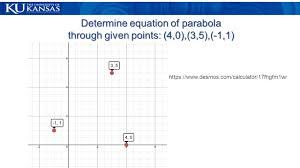 9 determine equation of parabola through given points 4 0 3 5 1 1 s desmos com calculator 17fhgfm1wr