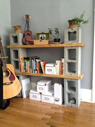 wood and cinder block shelves how to concrete blocks awesome projects to try wood and cinder block shelves