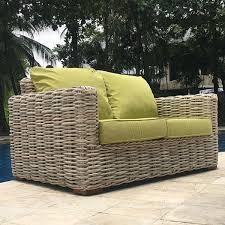 rattan garden sofa