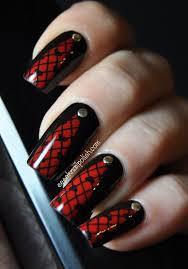 Image Via Red And Black Nails Designs Nails Pinterest Nail