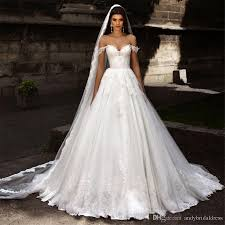 discount sexy boned princess a line off shoulder wedding gown