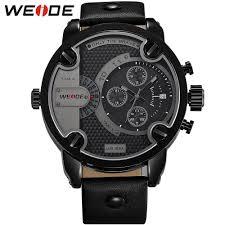 oversized watches men reviews online shopping oversized watches weide watches men luxury brand leather strap quartz dual time zone analog date men sport military oversize wristwatch