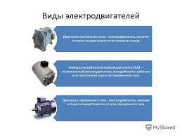 Презентация на тему Главное управление образования и науки  4 Виды электродвигателей