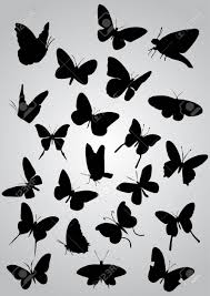 蝶のシルエットベクトル