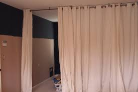 wire curtain rod room dividerhanging curtain without rod skywaymom hang decorating skyway close