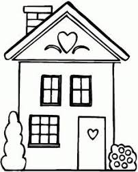 Easy House Coloring Pages For Preschoolers Enjoy Coloring
