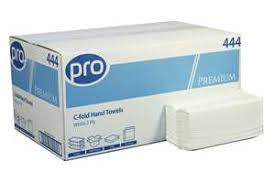 <b>C</b>-fold <b>2</b> ply <b>White</b> Pure Pulp Paper Hand Towels