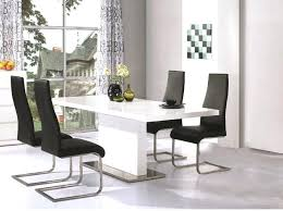 black and white high gloss dining table chairs with leather tablecloth chair covers excellent ideas trendy