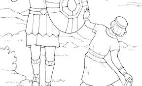 David And Goliath Coloring Page Pages X A Previous Image Next